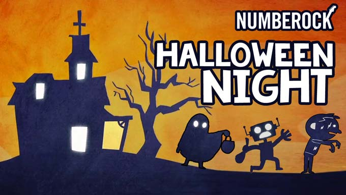 Halloween Night Song | Video with Lyrics Sheet and Task Card Activity by NUMBEROCK