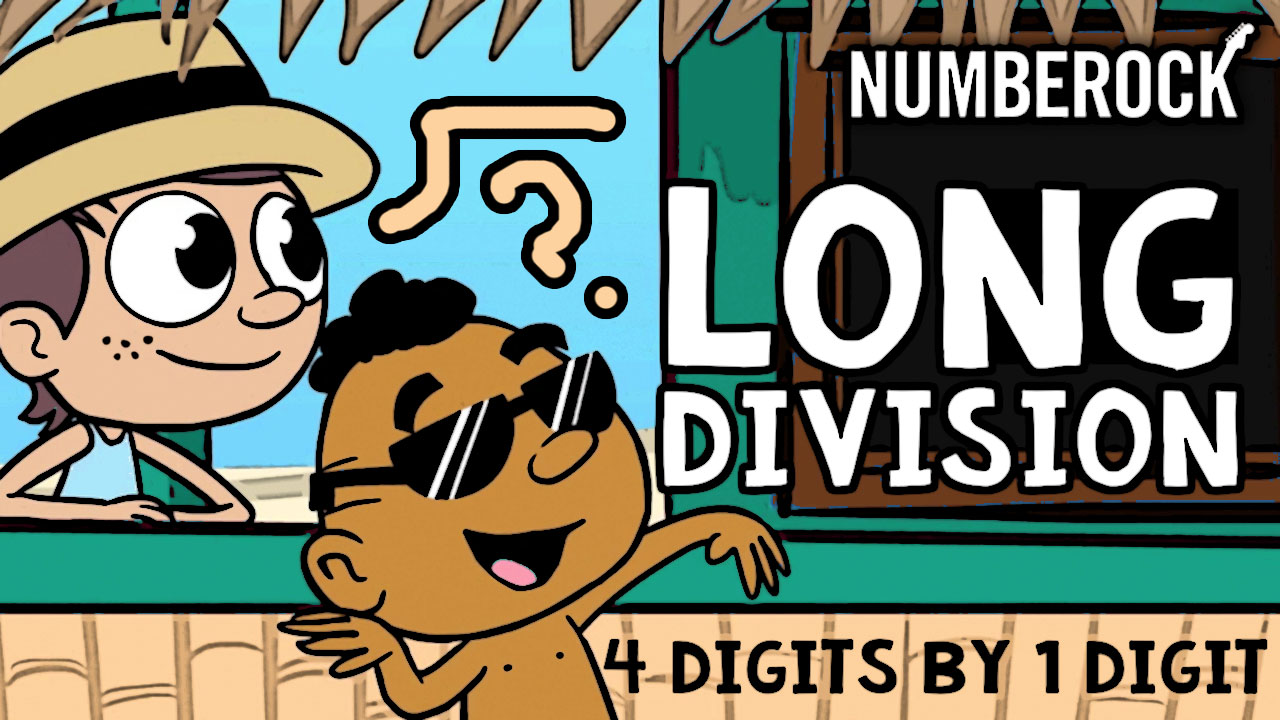 Long Division Song by Numberock | A 1-Digit Divisor Video with Worksheets, Anchor Charts, and More