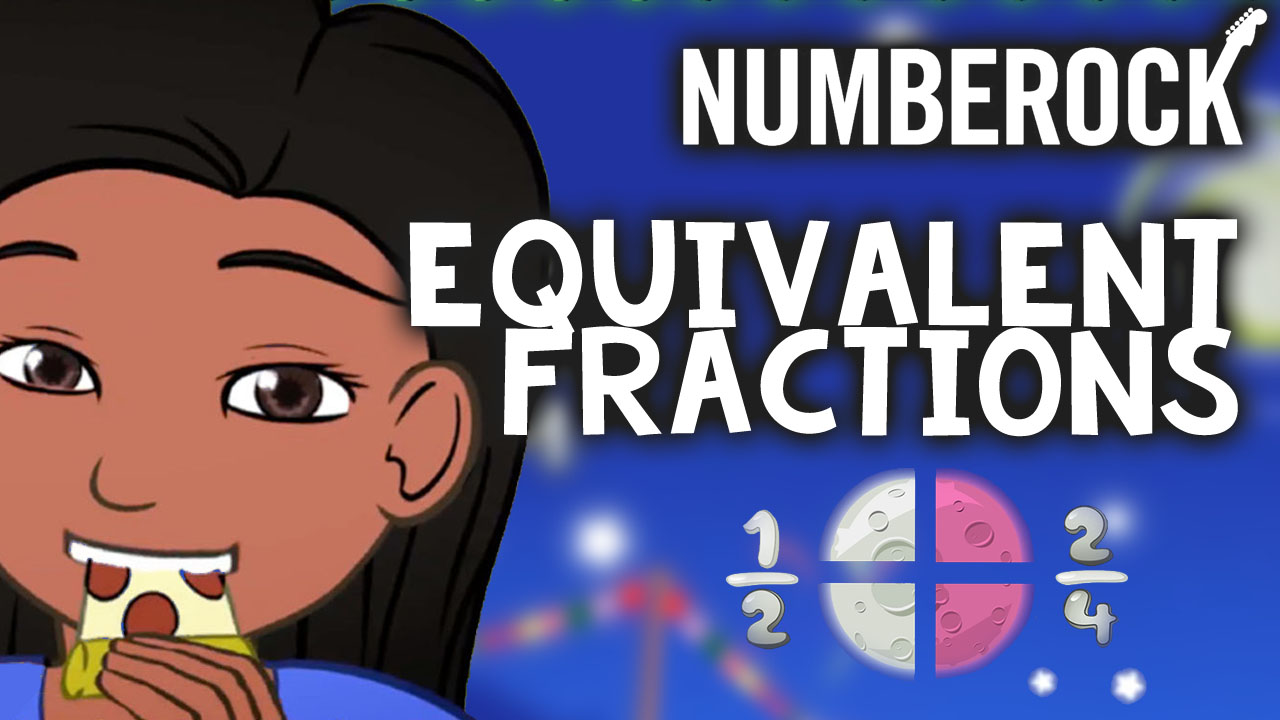 Equivalent Fractions Song by Numberock | A Video with Worksheets, a Lesson Plan, and More.