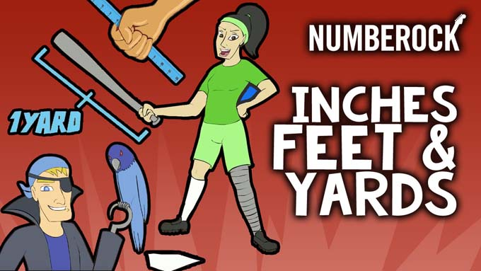 Inches, Feet, and Yards Song by NUMBEROCK