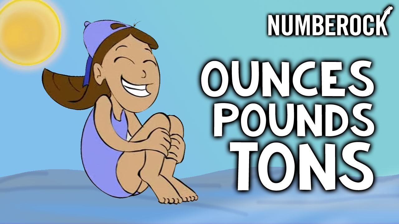 Ounces Pounds Tons Song | Numberock Video with Lesson Plan, Worksheets, and Anchor Chart