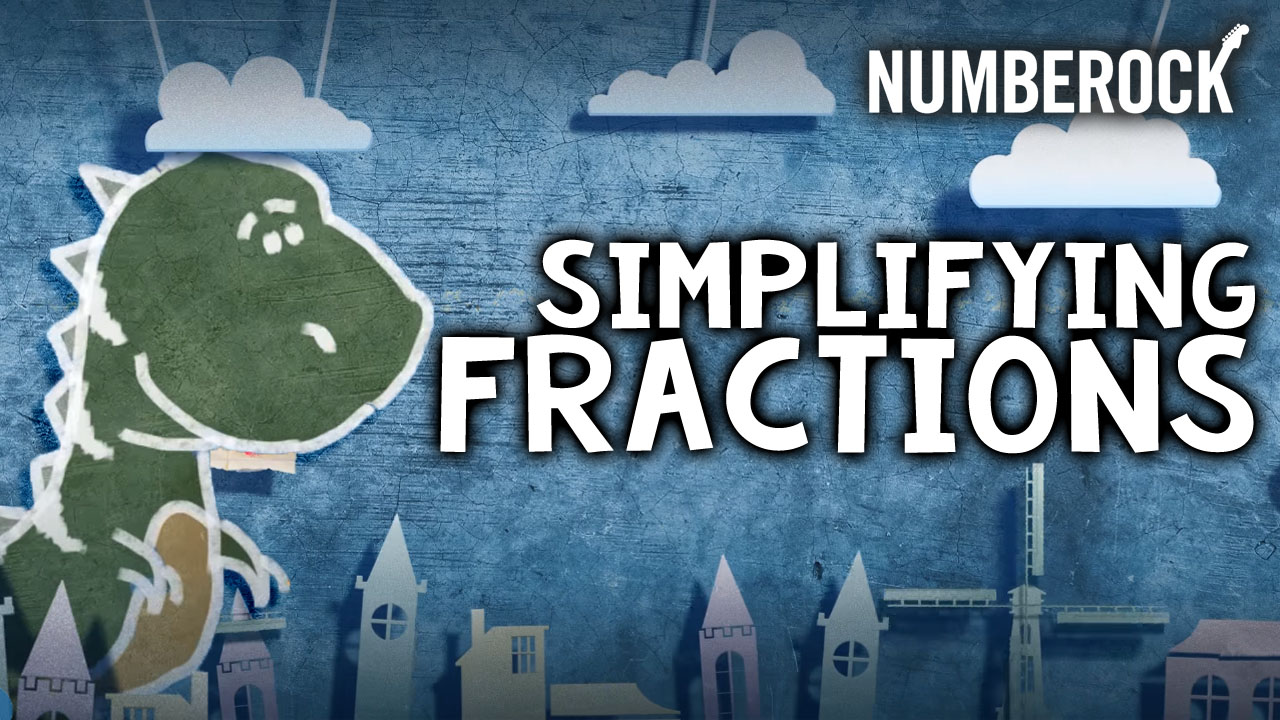 Numberock Simplifying Fractions Song | Video with Lesson Plan, Worksheets, and Anchor Chart
