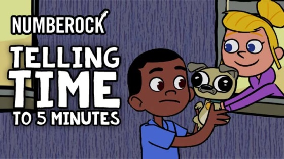 Telling Time to the Nearest 5 Minutes Song by NUMBEROCK