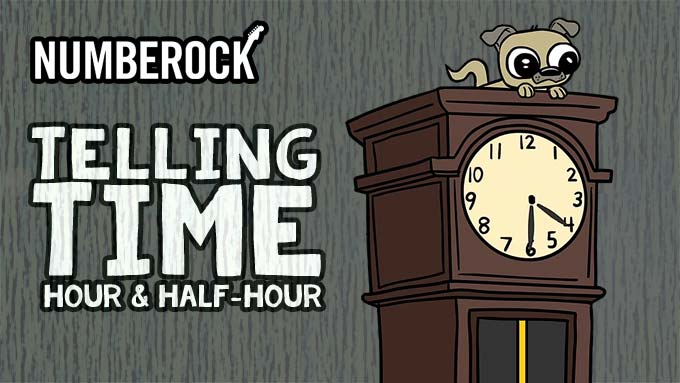 Telling Time to the Half-Hour & Hour Song | NUMBEROCK