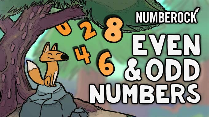 Even & Odd Numbers Song - Numberock Video Activity