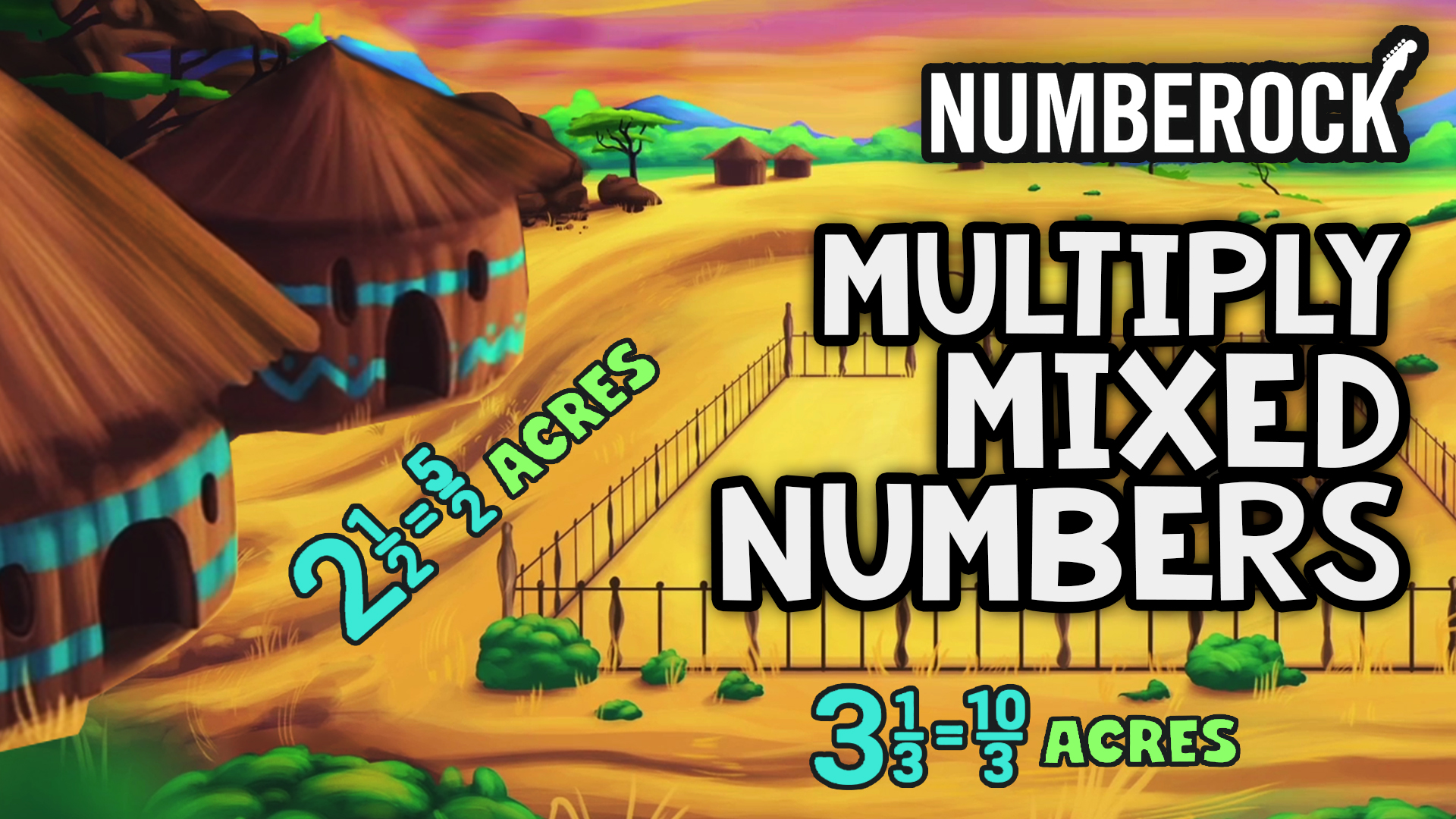 Multiplying Mixed Numbers Song by NUMBEROCK | 5th Grade Math Video with Worksheets and Activities
