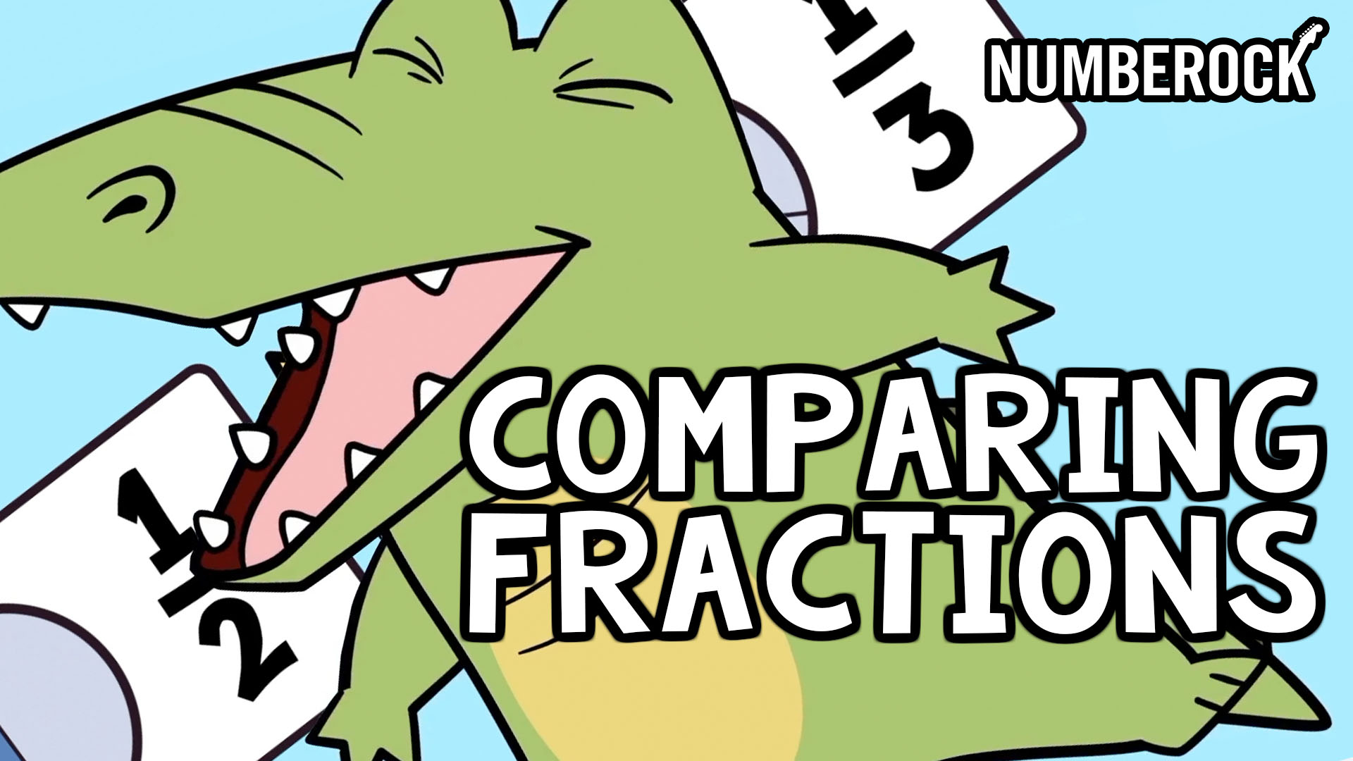 Comparing Fractions Song | Numberock Video with Worksheets and other 3rd Grade Fraction Activities