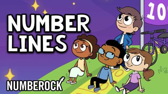 Number Lines Song by Numberock | Video with Creative Worksheets, Anchor Chart, Poster, and More!
